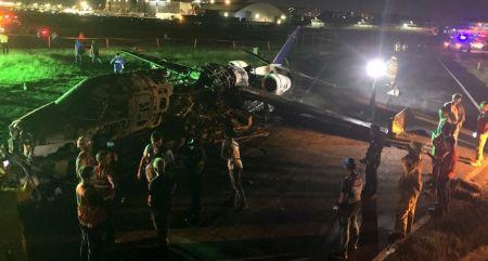 Взрыв самолёта на взлетно-посадочной полосе NAIA