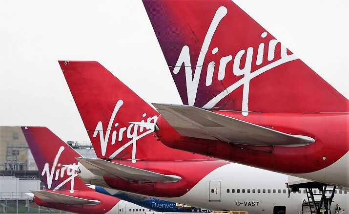 Коронавирус уничтожает авиацию. Virgin Atlantic - одна из первых компаний, которая нуждается в спасении