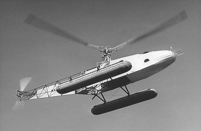 Первый в мире вертолет-амфибия Сикорского