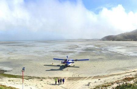 Уникальный шотландский пляжный аэропорт Барра